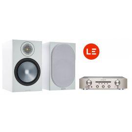 Marantz PM6007 + Monitor Audio Bronze 100 - Stříbrná/Bílá