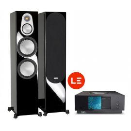 Naim Uniti Atom HDMI + Monitor Audio Silver 500 - Černá