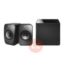 KEF LSX + KEF Kube8b + AudioQuest Black lab 3 m - černá