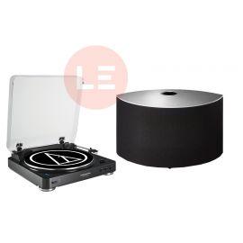 Audio-Technica AT-LP60-BT + Technics OTTAVA SC-C30 - Černá