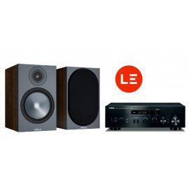 Yamaha R-N402D + Monitor Audio Bronze 100 - Černá/Ořech